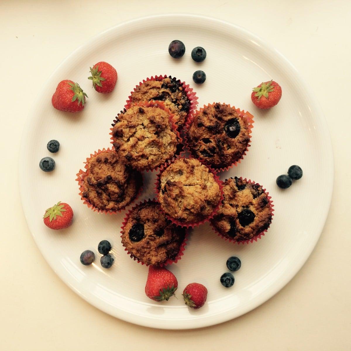 Gezonde blueberry muffins