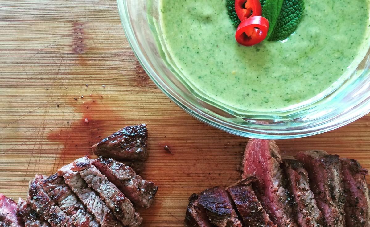 Biefstuk met salsa verde