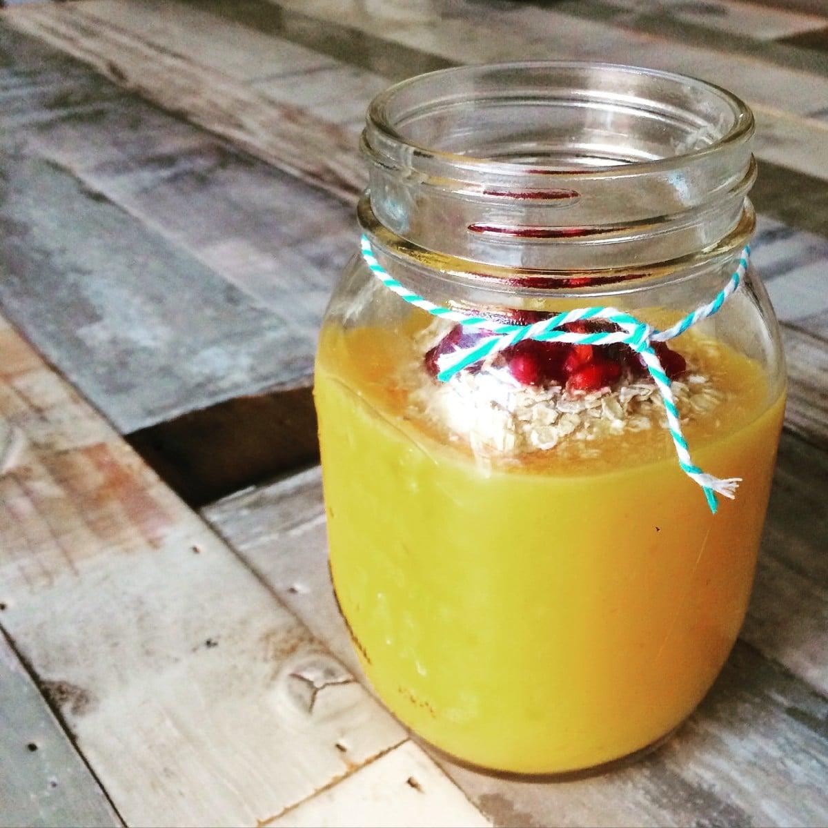 Mango-perzik smoothie