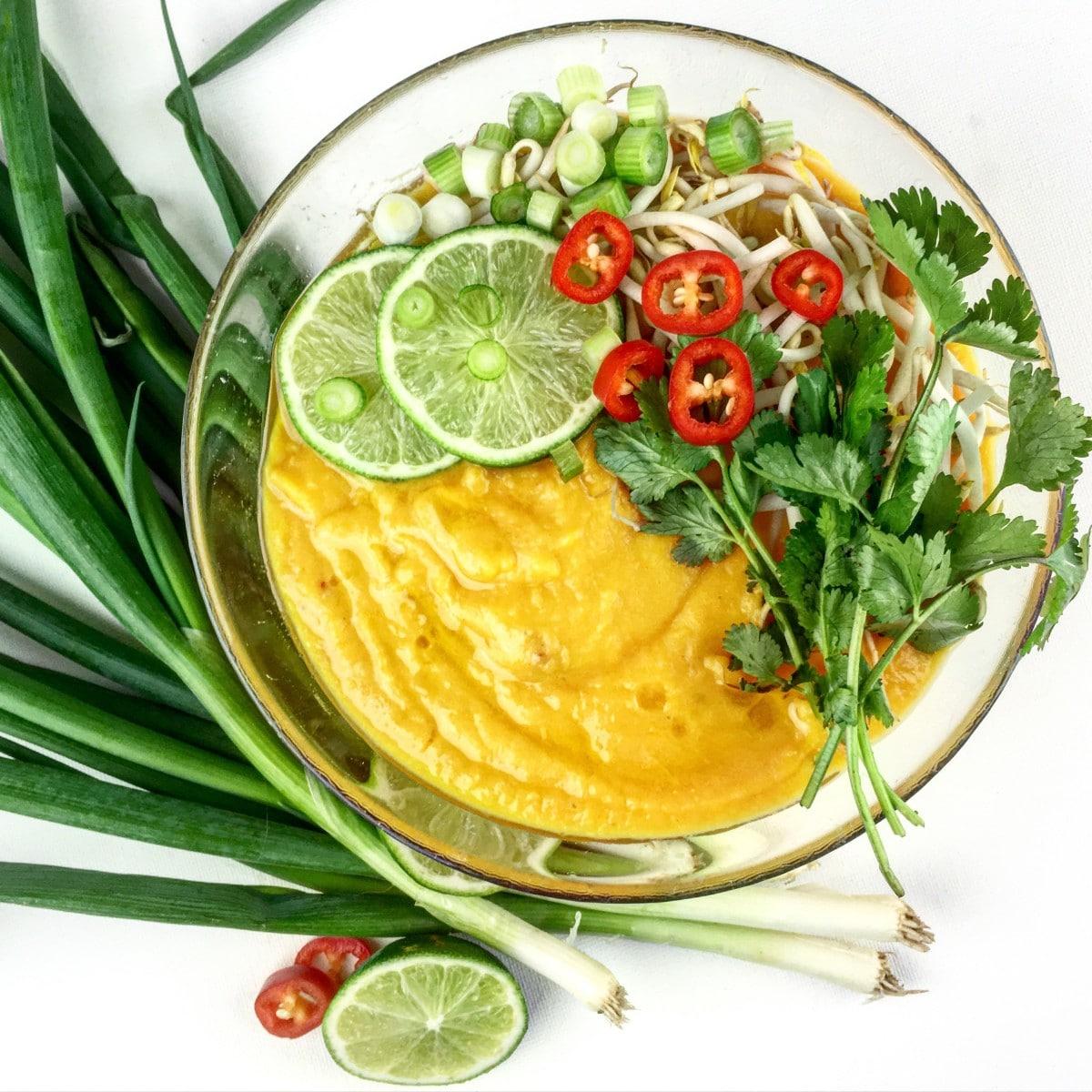Thaise zoete aardappelsoep