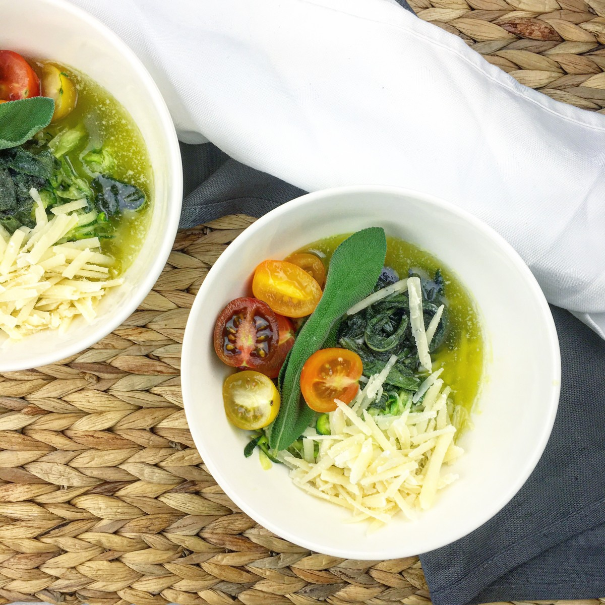 Courgetti met salieboter