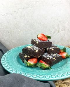 Gezonde, rauwe brownies