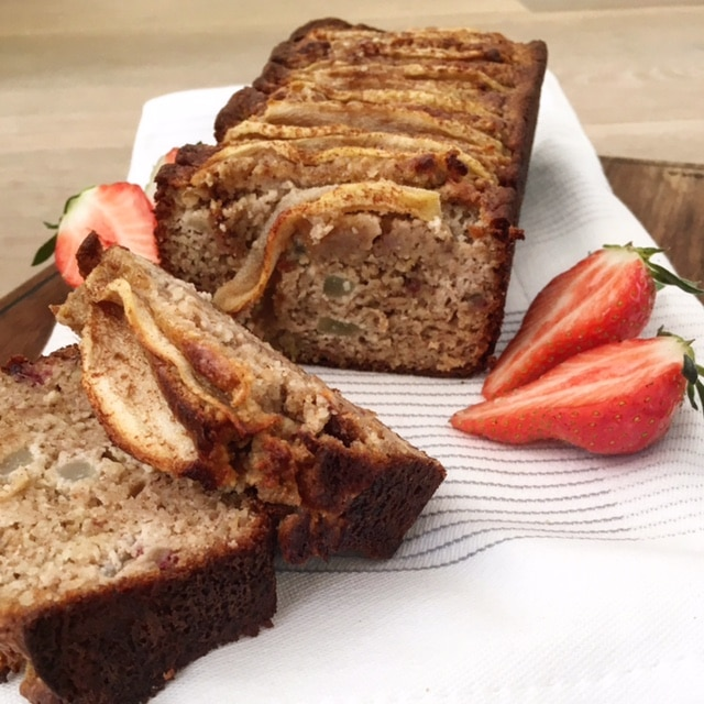 Peren-amandel cake