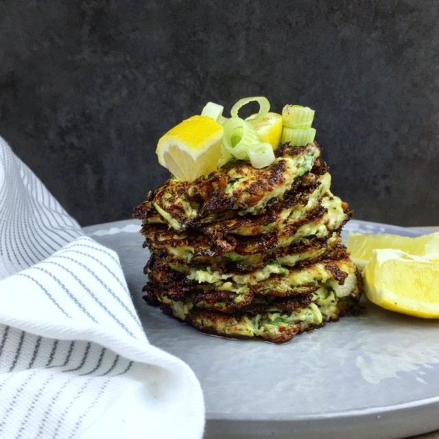 Courgette & ricotta fritters