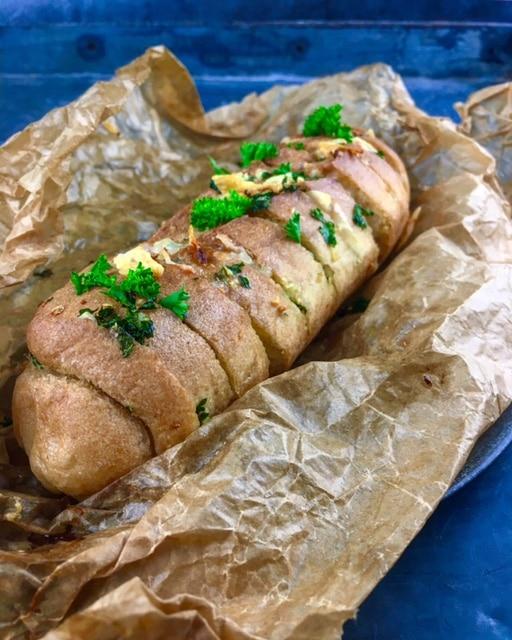 Knoflookbrood met Parmezaanse kaas