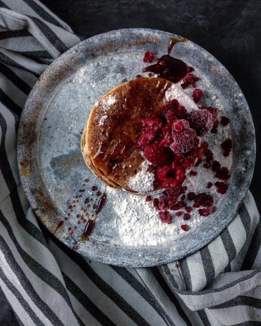 Frambozen pancakes