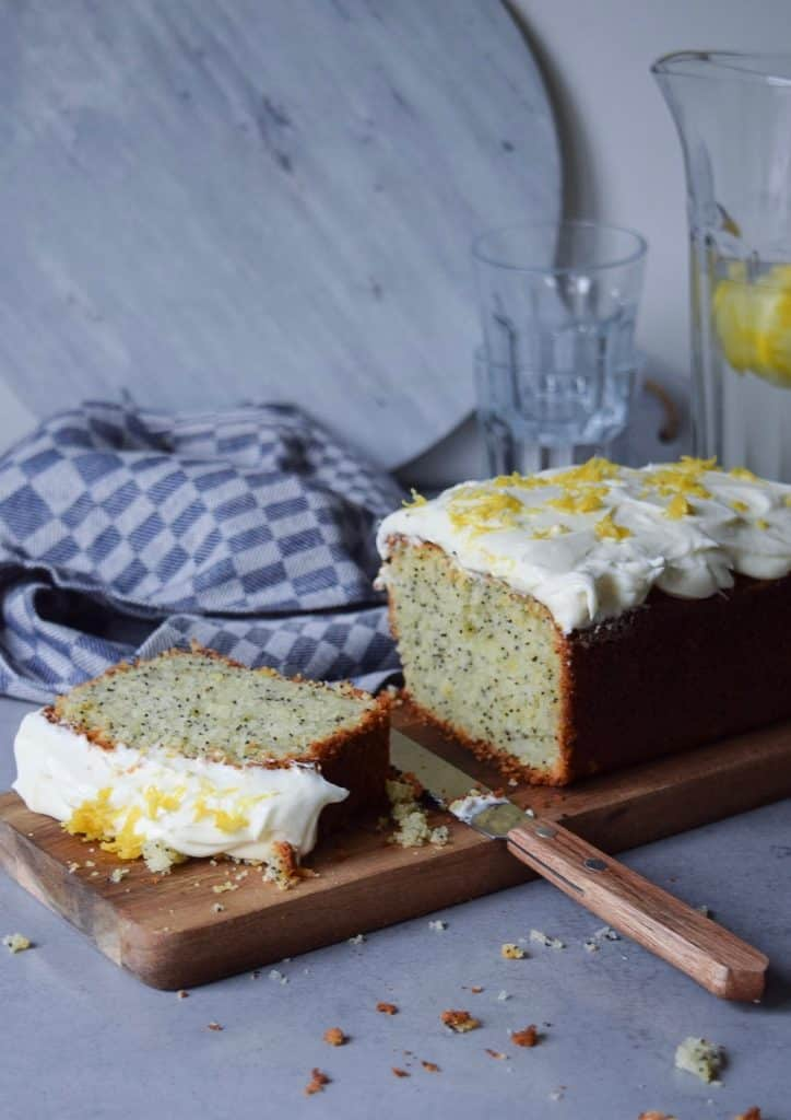 Glutenvrije citroen-maanzaadcake