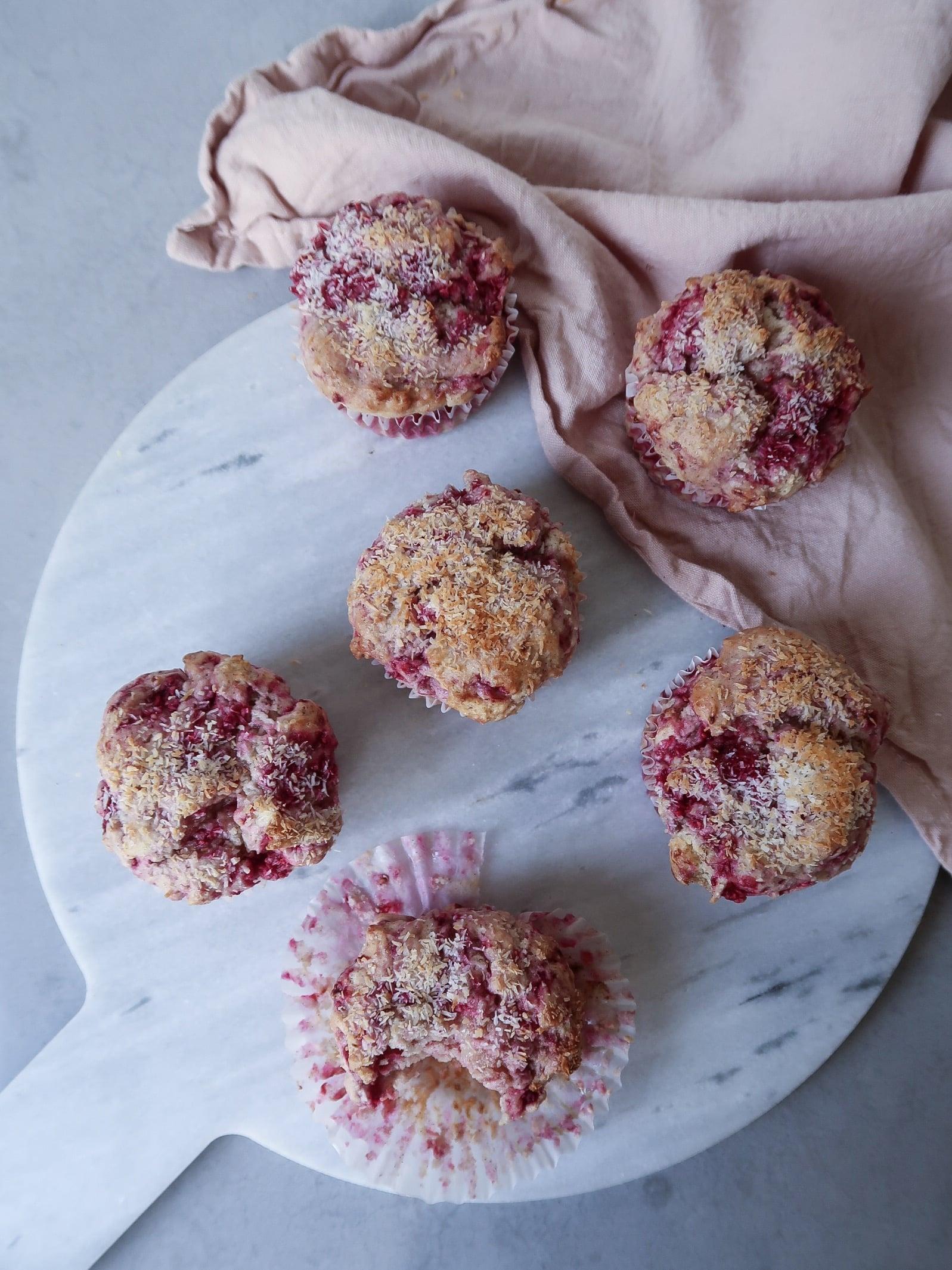 Glutenvrije frambozen cupcakes