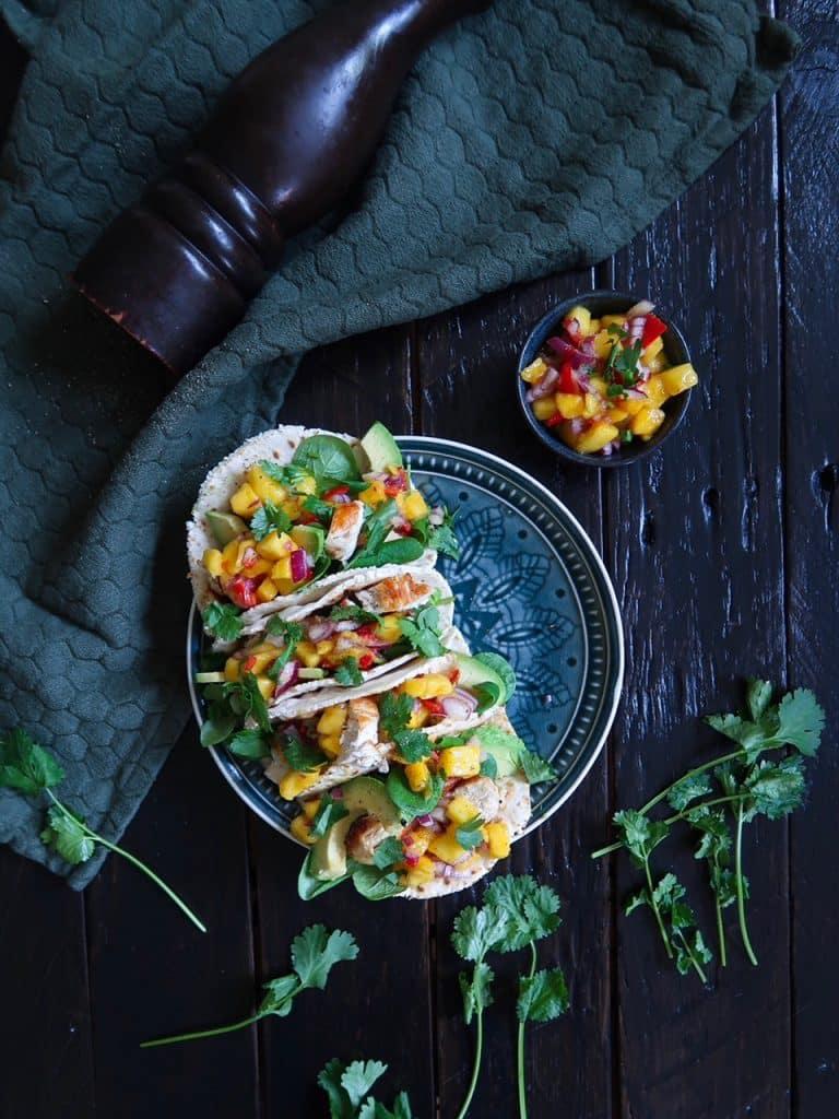 Taco's met mango salsa