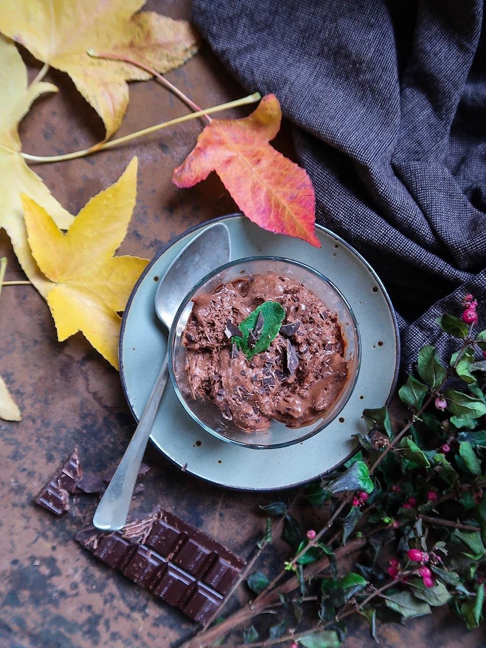 Chocolademousse met olijfolie