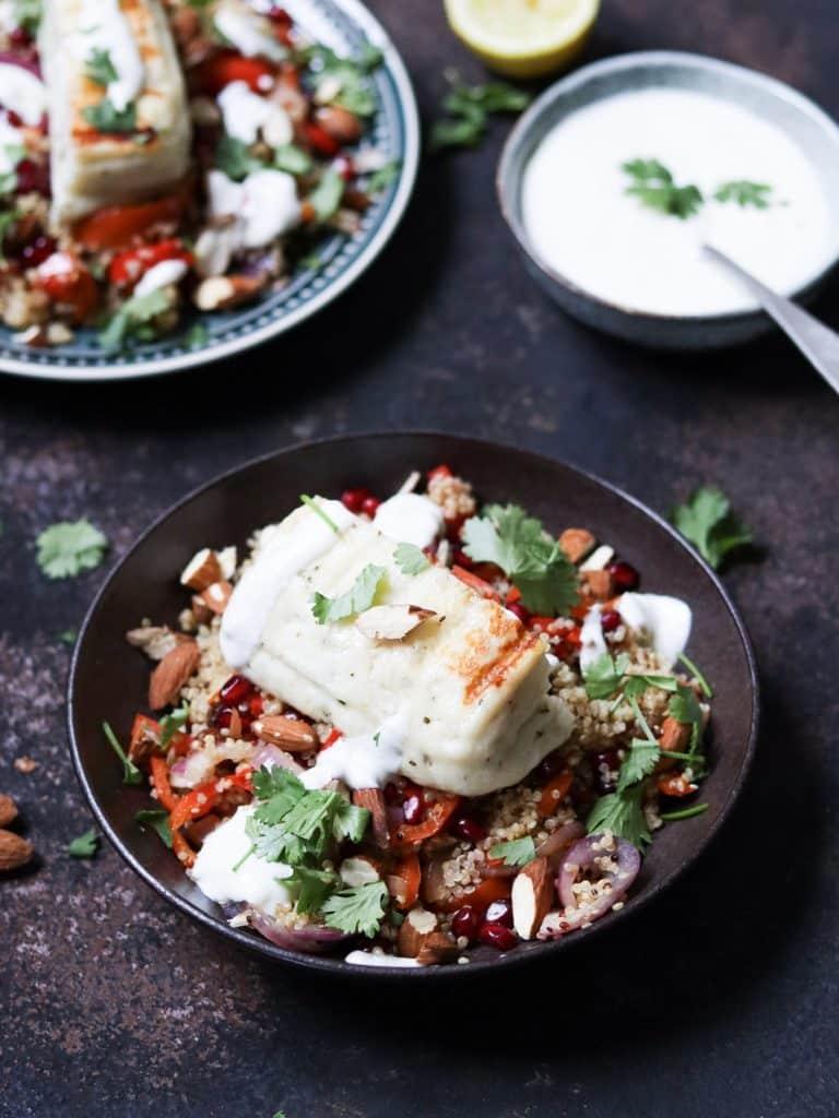 Quinoa met halloumi glutenvrij
