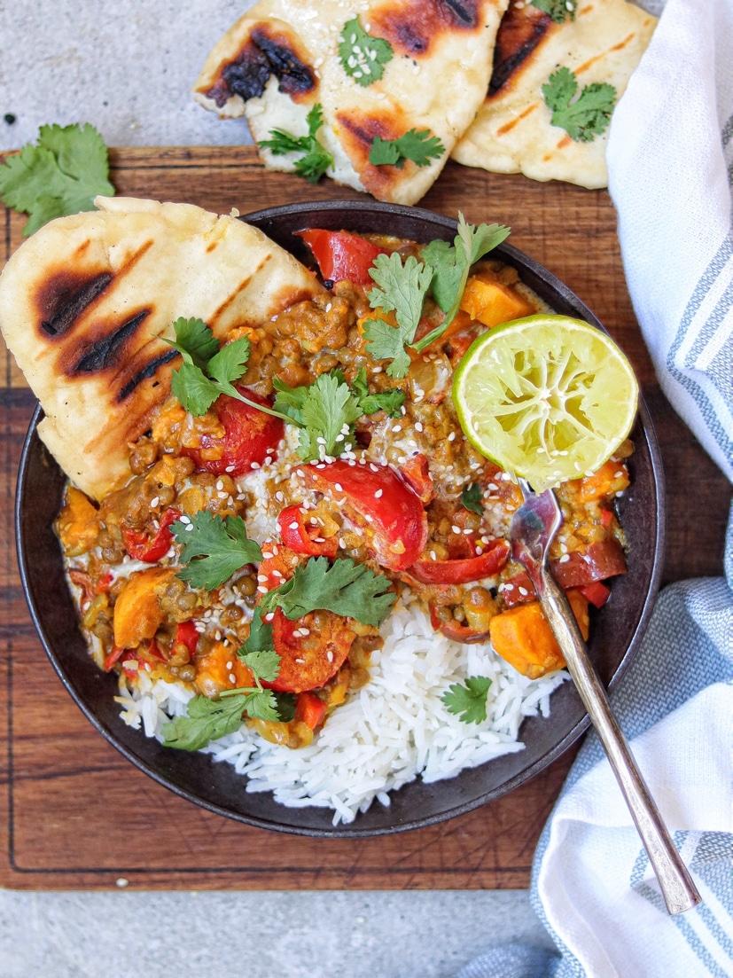 hoe je maak je zoete-aardappel curry?