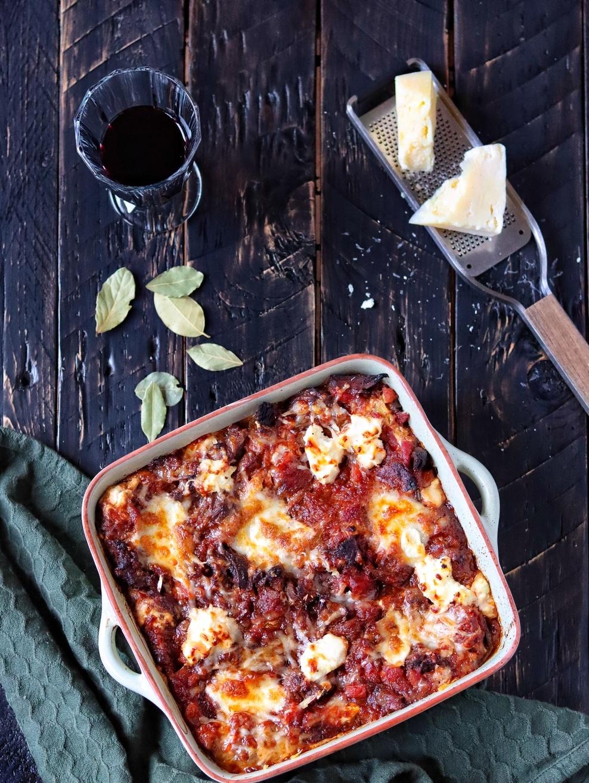 Lasagne met stoofvlees